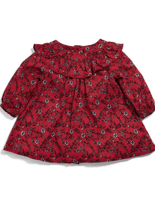 Frill Floral Print Dress image number 1