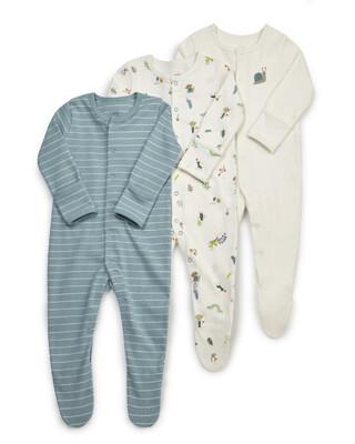 3 Pack Bugs Sleepsuits