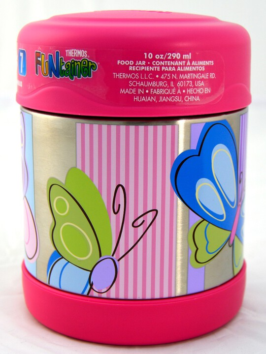 Thermosâ®- Funtainerâ® Stainless Steel Food Jar 290Ml- Butterfly image number 2