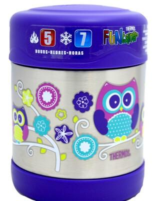 Thermosâ®- Funtainerâ® Stainless Steel Food Jar 290Ml- Owl
