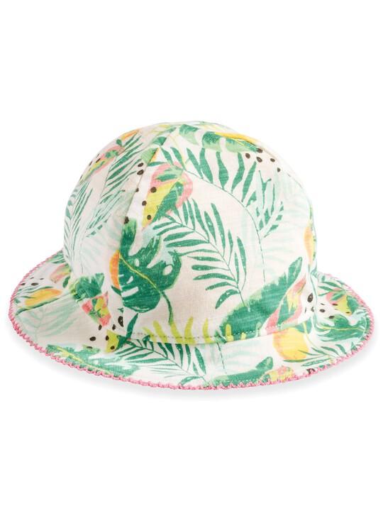Tropical Print Reversible Hat image number 1