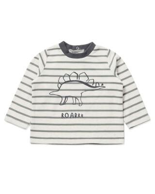 Striped Dinosaur T-Shirt