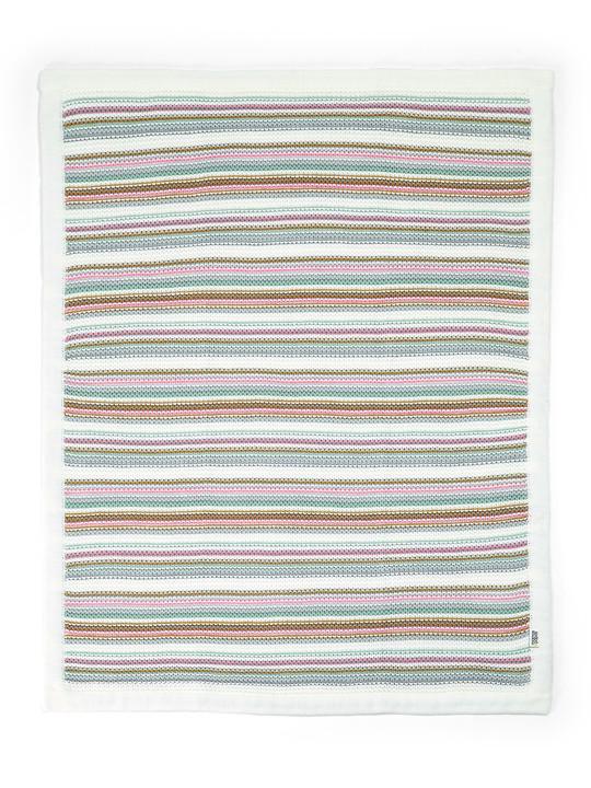Pastel Stripe Knitted Blanket (70 x 90cm) image number 2