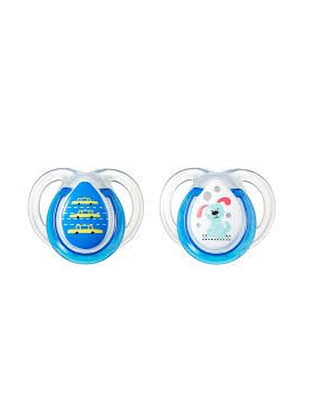 TT CTN 2X 0-6M ANY TIME SOOTHER Color:- Blue/Green