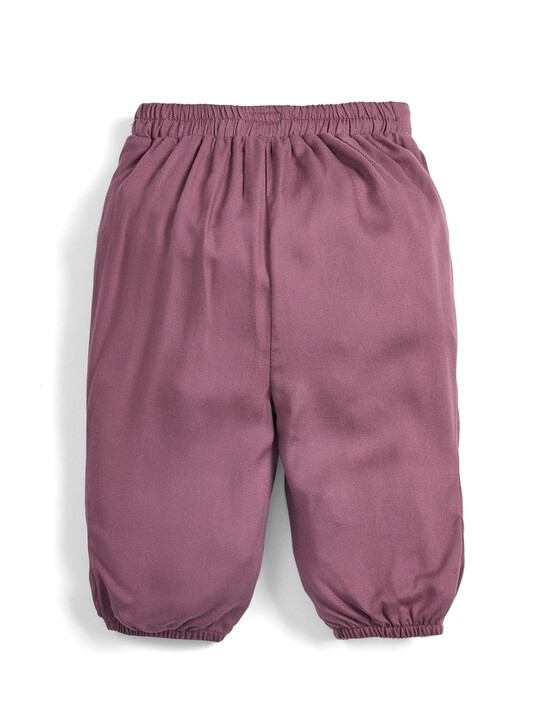 Bow Front Trousers - Berry image number 2