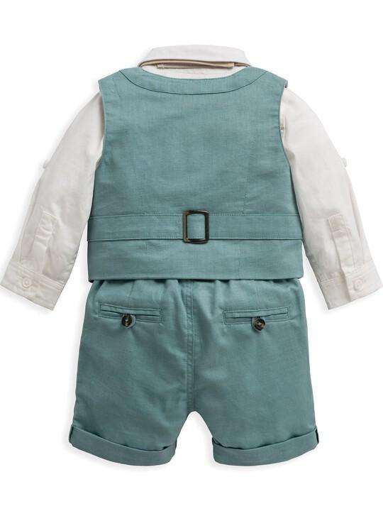 4 Piece Waistcoat & Shorts Set image number 4