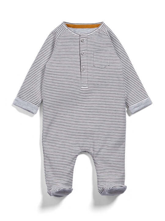 Henley Stripe All-in-One image number 1