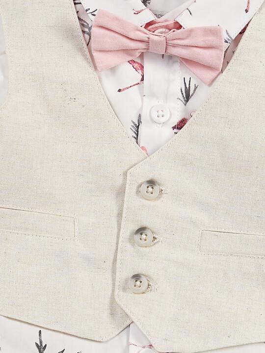 Flamingo Shirt & Waistcoat Set - 4 Piece image number 7