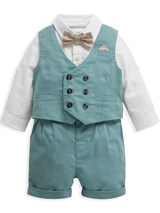 4 Piece Waistcoat & Shorts Set image number 2