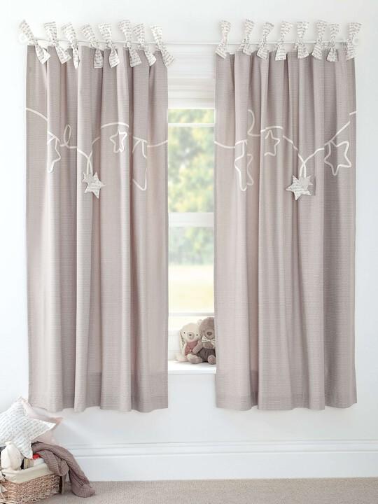Millie & Boris - Lined Tie Top Curtains - 132 x 160cm image number 2