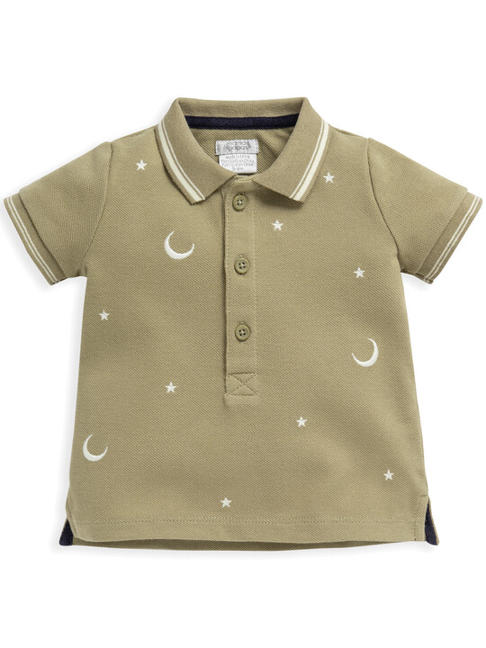 Embroidered Pique Polo image number 1