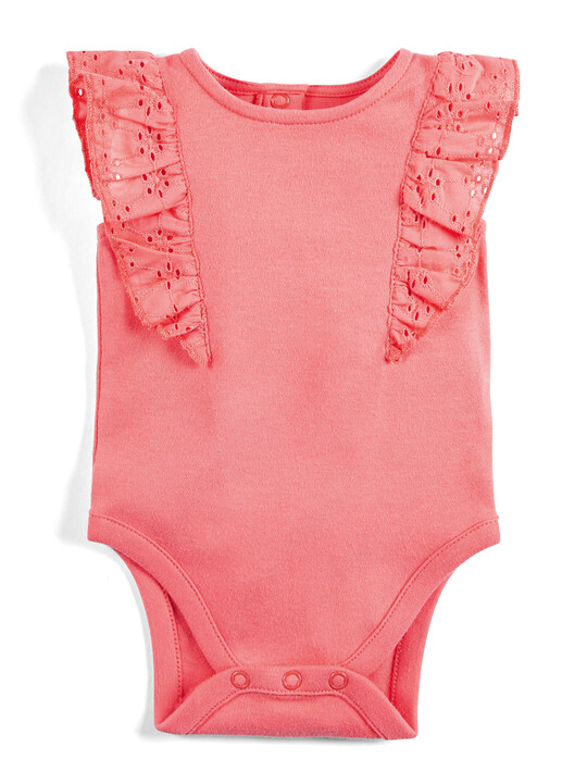 Coral Frill Bodysuit image number 1