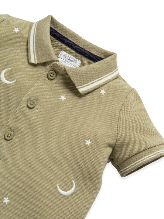 Embroidered Pique Polo image number 3