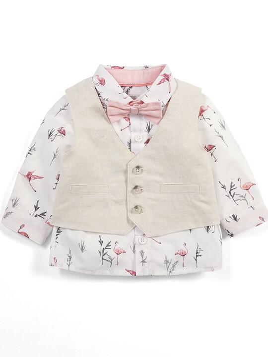 Flamingo Shirt & Waistcoat Set - 4 Piece image number 3