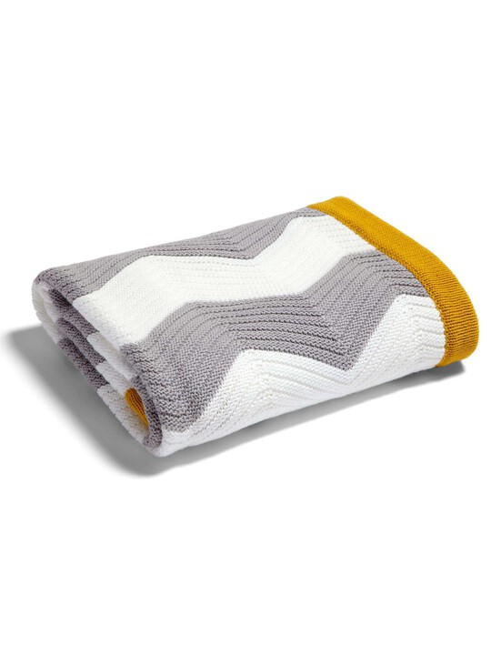 Patternology - Chevron Knitted Blanket image number 1