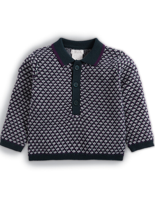 Knitted Polo Shirt image number 1