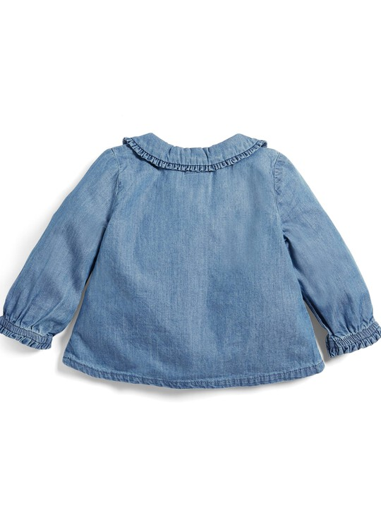 Chambray Collar Blouse image number 2