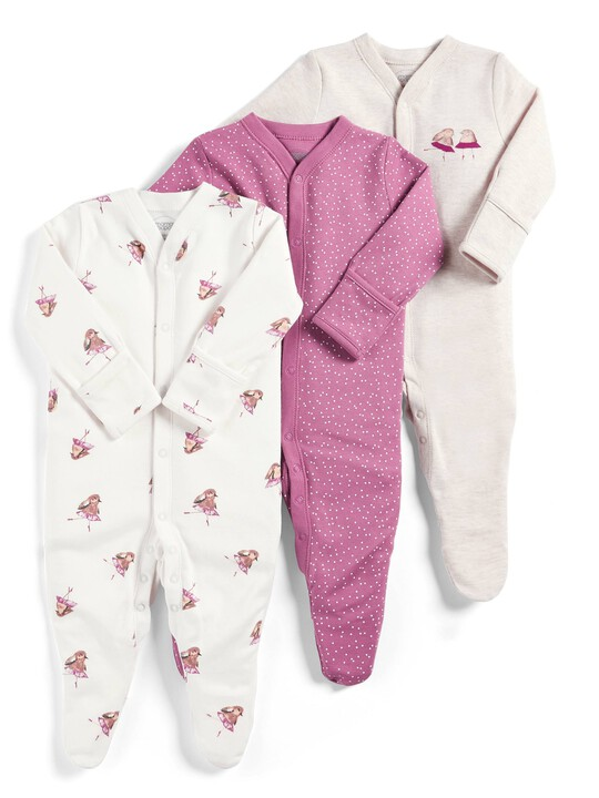 Robin Sleepsuits - Pack of 3 image number 1