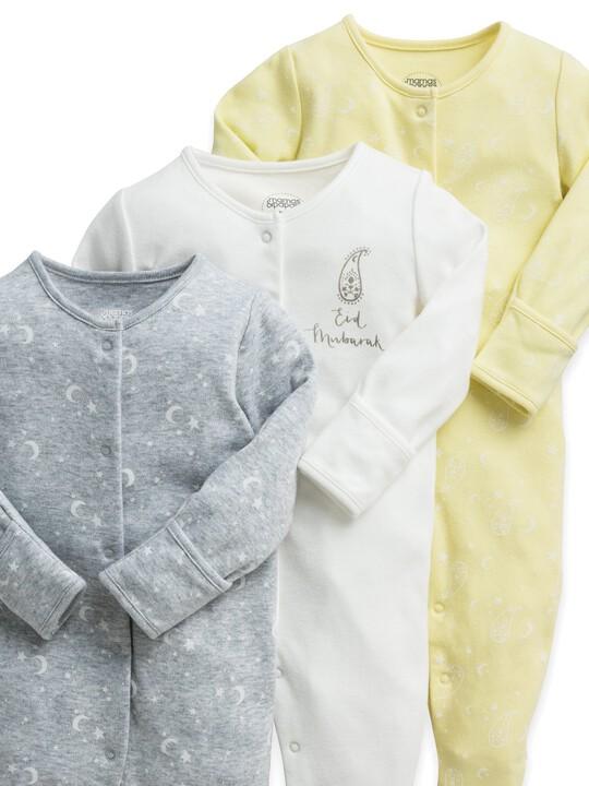3 Pack Eid Sleepsuits image number 3