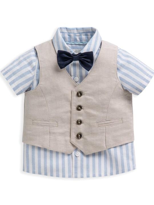 4 Piece Linen Waistcoat & Shorts Set image number 4