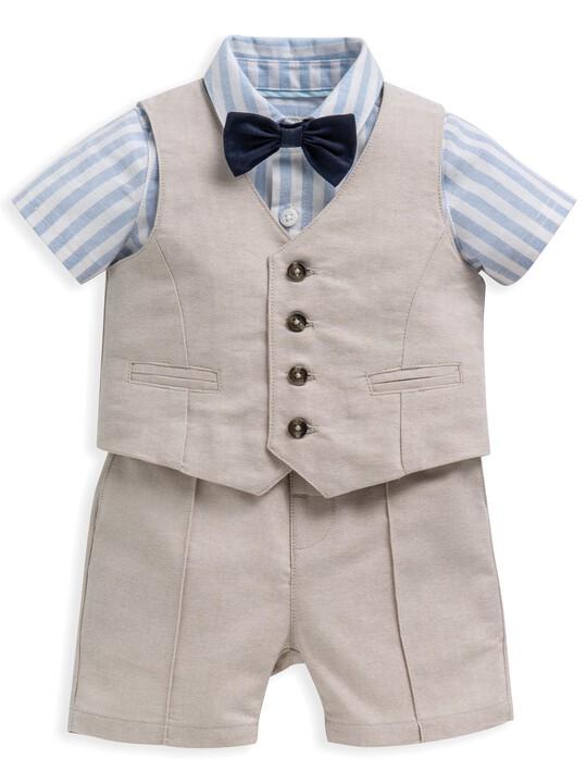 4 Piece Linen Waistcoat & Shorts Set image number 2