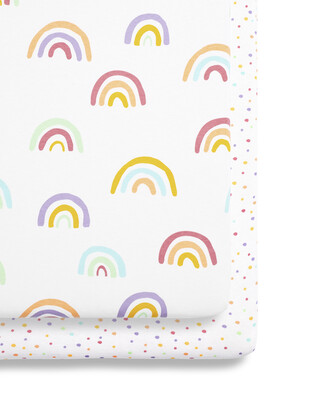SnuzPod - 2 Pack Crib Fitted Sheets - Colour Rainbow (N)