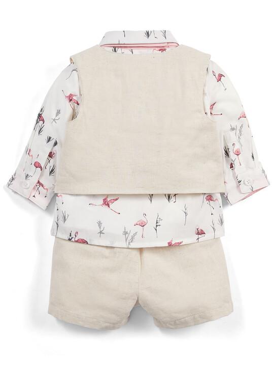 Flamingo Shirt & Waistcoat Set - 4 Piece image number 2