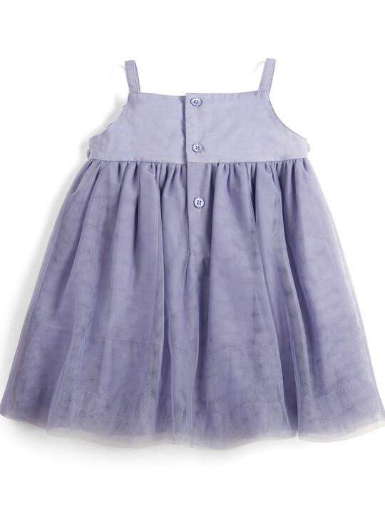 Floral Mesh Dress - Purple image number 2