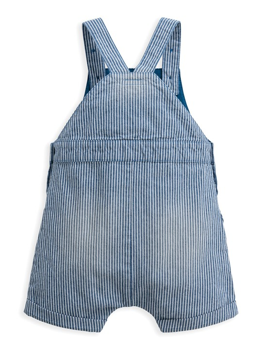 Striped Woven Dungaree image number 2