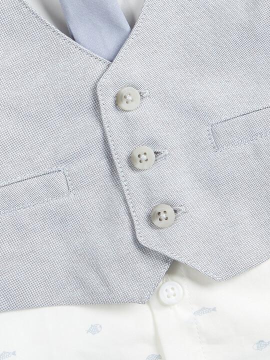 Linen Waistcoat, Shirt and Tie - 3 Piece Set image number 5