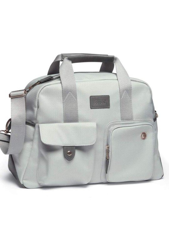 Bowling Style Changing Bag with Bottle Holder - Grey/Champange image number 1