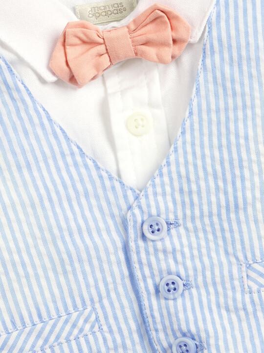 Seersucker Waistcoat, Shirt and Bowtie - 3 Piece Set image number 5