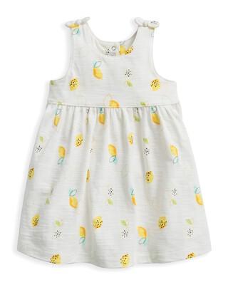 Lemon Print Jersey Dress