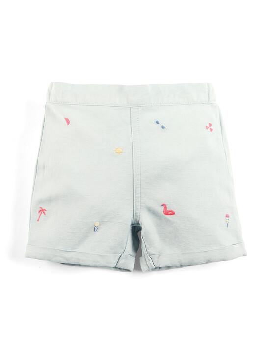 Embroidered T-Shirt & Shorts Set image number 5