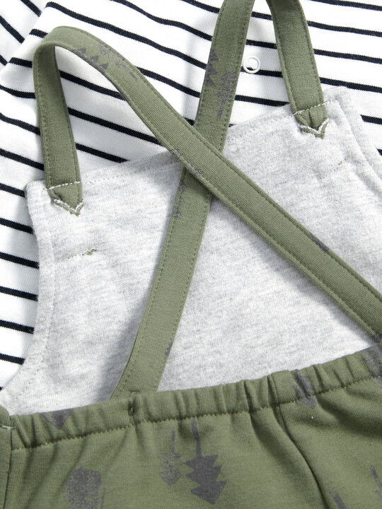 Long Sleeved T-Shirt & Printed Dungaree image number 3