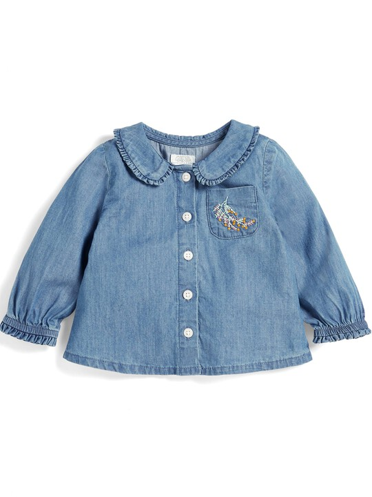 Chambray Collar Blouse image number 1