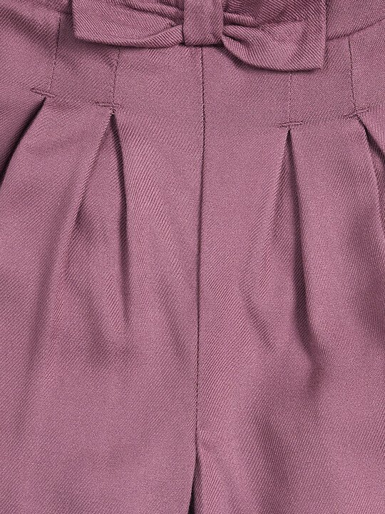 Bow Front Trousers - Berry image number 3