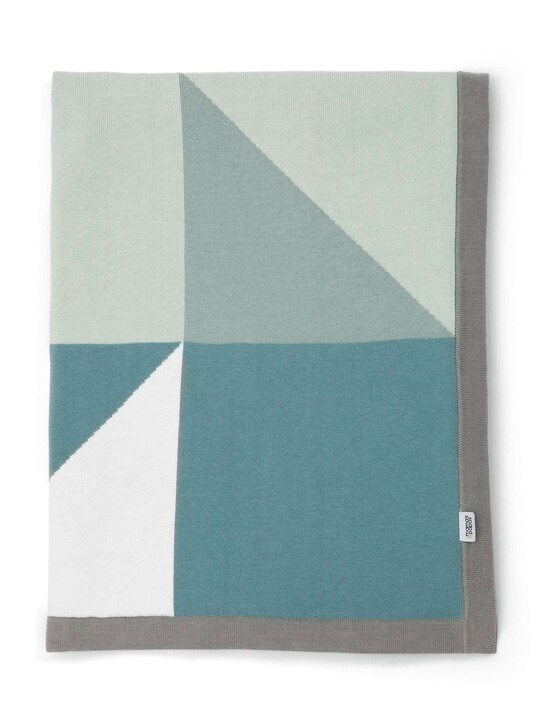 Knitted Blanket - 70 x 90cm - Triangles image number 1