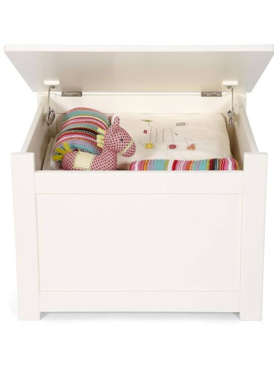 Versatile Nursery Storage Box with Protective Hinge - Ivory image number 2