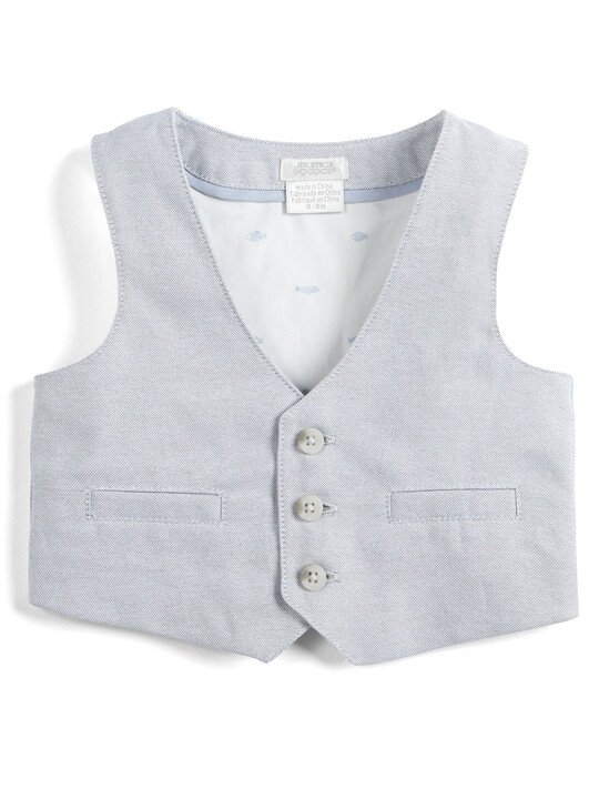 Linen Waistcoat, Shirt and Tie - 3 Piece Set image number 3