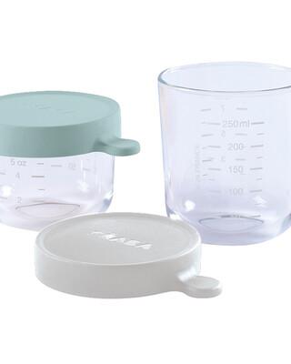 Beaba Conservation Jar Glass Set of 2 150ml / 250ml