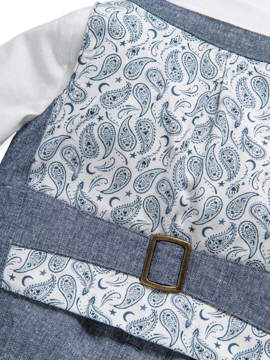 4 Piece Chambray Waistcoat & Trousers Set image number 8