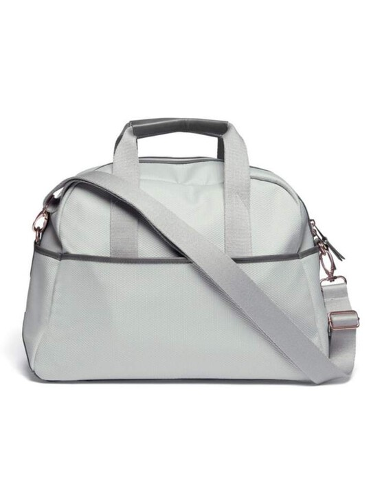 Bowling Style Changing Bag with Bottle Holder - Grey/Champange image number 2