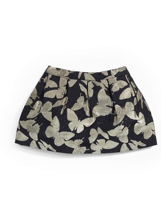 Gold Sparkle Jumper & Printed Skirt Set image number 5