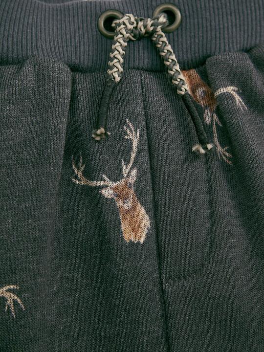 Deer Print Joggers image number 3