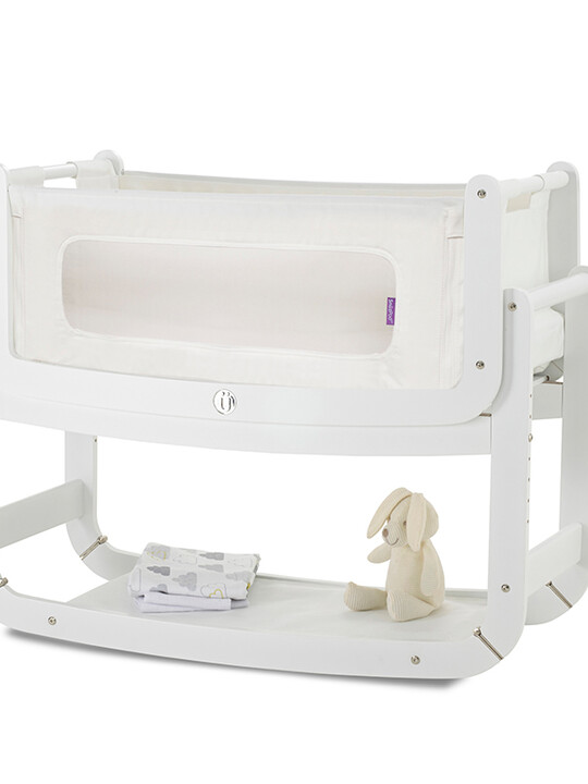 SnuzPod2 Bedside Crib 3 in 1 Eco-White with Mattress image number 1