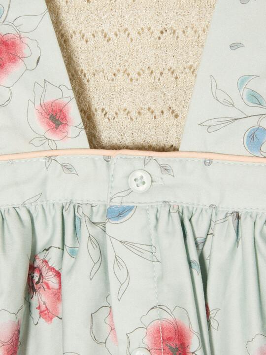 Frill Sleeve Dress & Cardigan image number 3