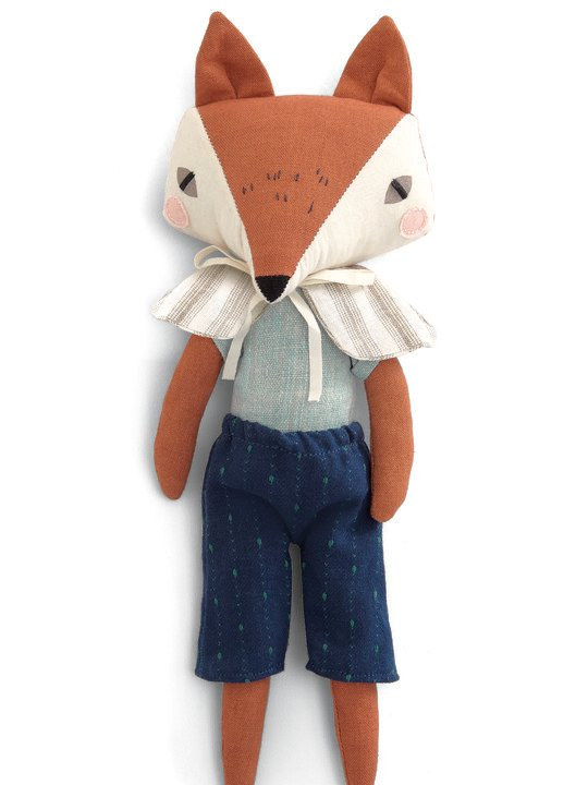 Soft toy - fox - Abi brown image number 1