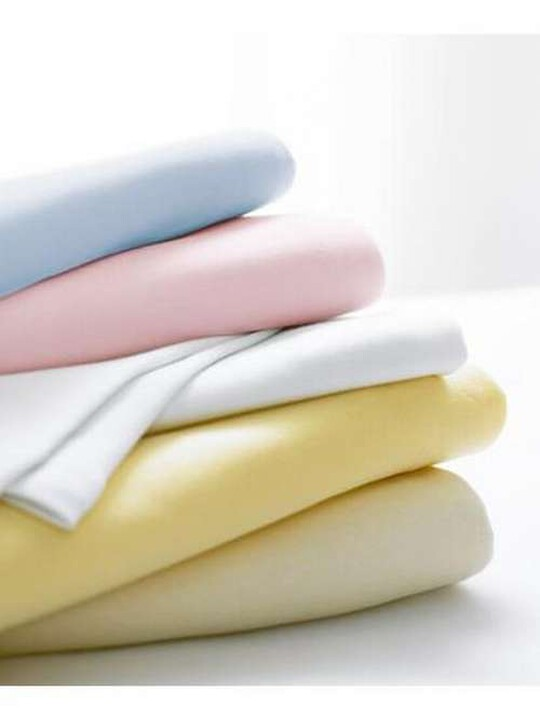 White Fitted Sheets - (Travel cot) Pack of 2 image number 4