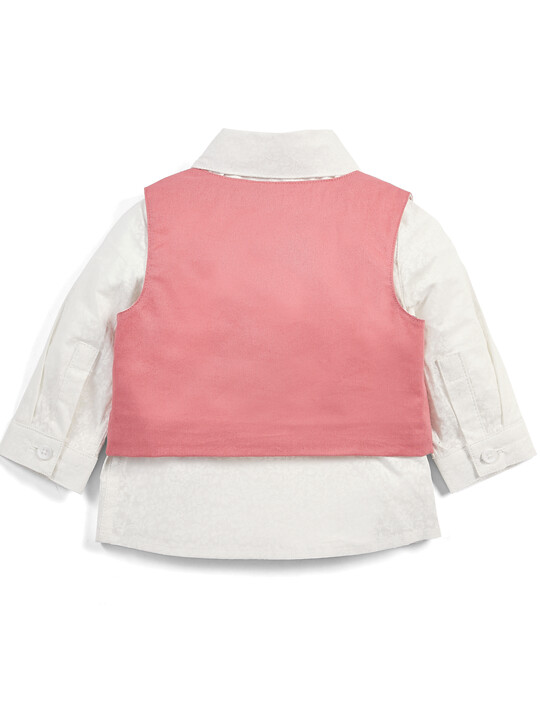 Pink Shirt & Waistcoat Set - 2 Piece image number 2
